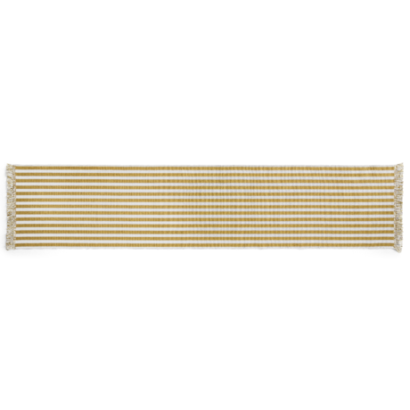 HAY Vloerkleed Stripes And Stripes Geel Katoen 300x65cm