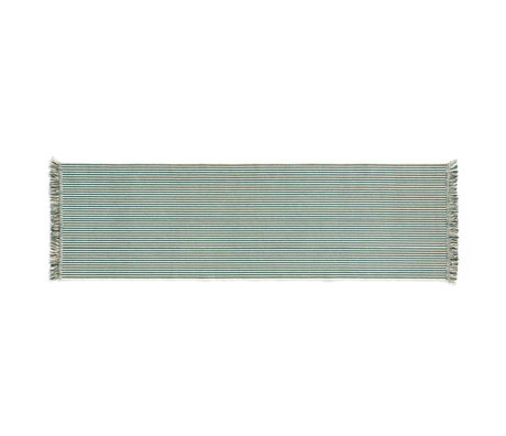 HAY Vloerkleed Stripes And Stripes Groen Katoen 200x60cm