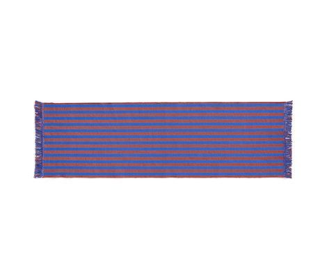 HAY Vloerkleed Stripes And Stripes Oranje Blauw Katoen 200x60cm