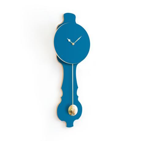 KLOQ Zifferblatt Petrol Blue Shiny Gold Wood 26,2 x 8 x 75,5 cm