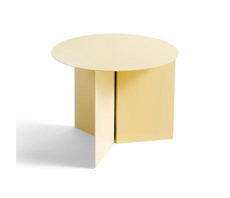 HAY Tafel Slit Round Geel Staal Ø45x35,5cm