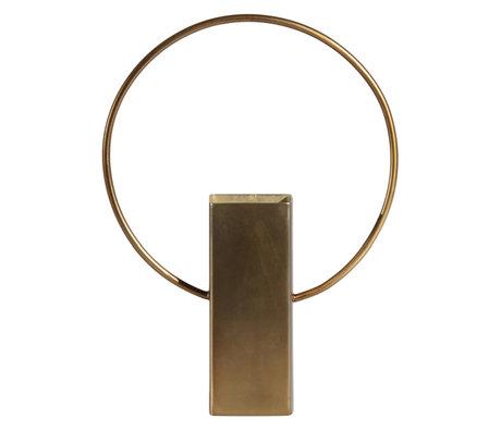BePureHome Vaas Ring Antiek Goud Metaal 18x5x25cm