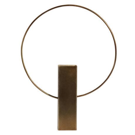 BePureHome Vaas Ring Antiek Goud Metaal 31x6x40cm