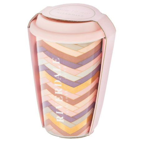 Riverdale Becher zum Mitnehmen Magnifique rosa Keramik 10x9x14cm