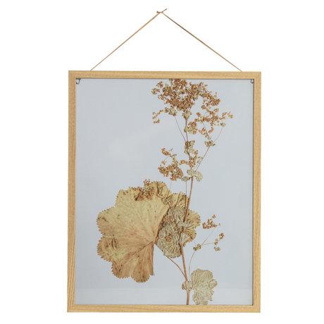BePureHome Fotolijst Potpourri Bloemen Multicolor MDF Glasplaat 40x50cm