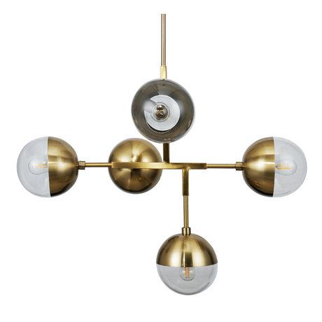BePureHome Hanglamp Globular Goud Metaal 75x51x58cm