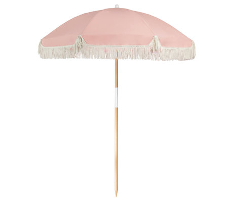 LEF collections Parasol beach luxury pink cotton wood plastic 170x170x150cm