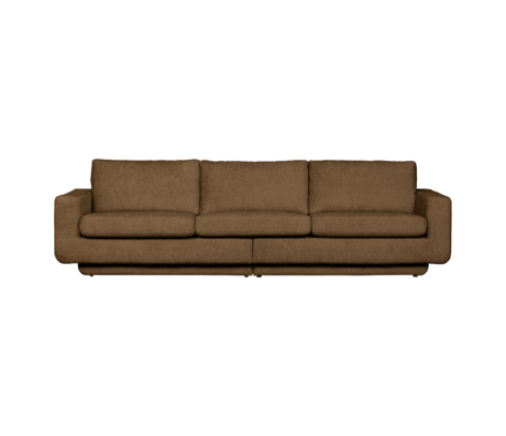 BePureHome Bank Fame 3-zits Bruin Polyester 282x92x84cm
