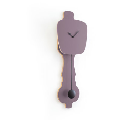 KLOQ Zifferblatt lavendelgrau klein tiefschwarz Holz 20,4x6x59cm