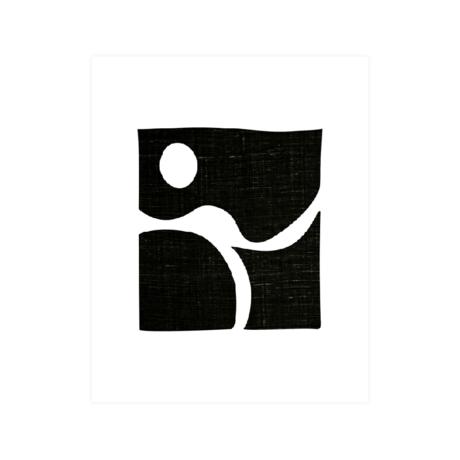 WOOOD Poster Simple Zwart Wit Papier 30x40cm