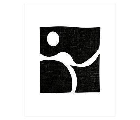 WOOOD Poster Simple Zwart Wit Papier 50x70cm