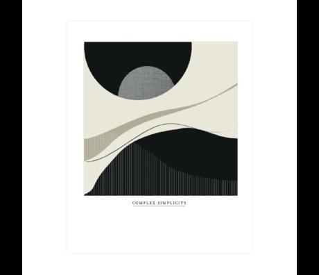 WOOOD Poster Complex Simplicity Multicolor Papier 40x50cm