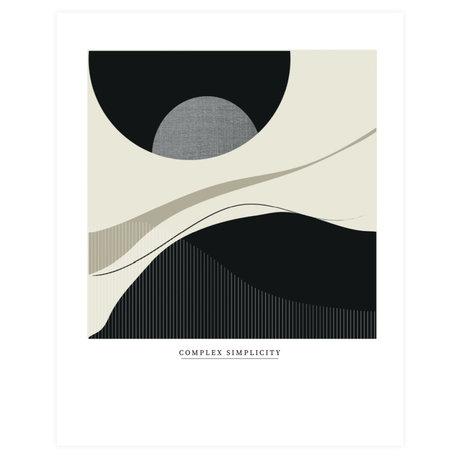 WOOOD Poster Complex Simplicity Multicolor Papier 70x50cm