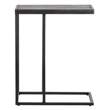 WOOOD Bijzettafel Febe U-vorm Zwart Metaal 45x35x55cm
