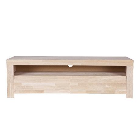WOOOD TV-meubel Mats Naturel Eiken Hout 150x44x46cm