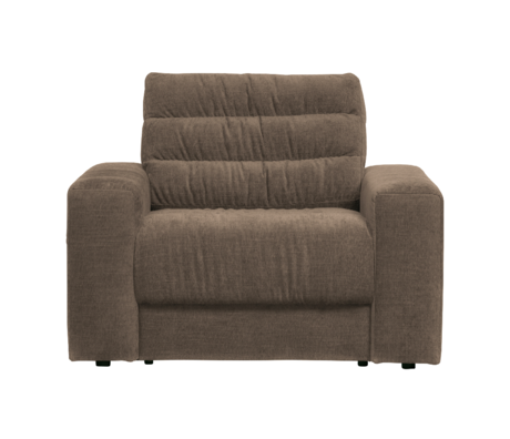 BePureHome Fauteuil Date Vintage Bruin Polyester 103x99x78cm