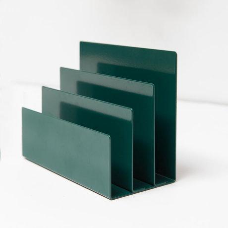 Groovy Magnets Magnetische Tijdschriftenhouder Blauw Gepoedercoat Staal 18x8x13cm