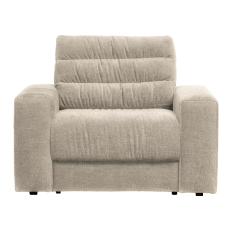 BePureHome Fauteuil Date Vintage Creme Polyester 103x99x78cm