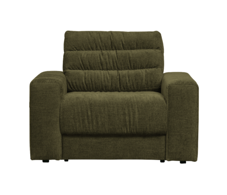 BePureHome Fauteuil Date Vintage Groen Polyester 103x99x78cm