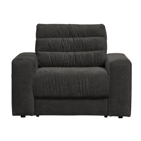 BePureHome Fauteuil Date Vintage Antraciet Polyester 103x99x78cm