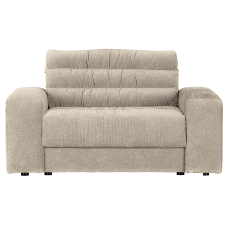 BePureHome Bank Date Vintage Loveseat Creme Polyester 136x101x78cm