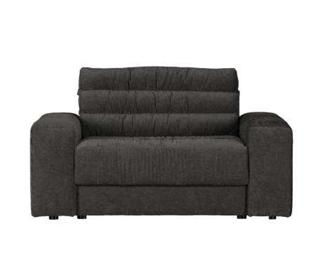 BePureHome Bank Date Vintage Loveseat Antraciet Polyester 136x101x78cm