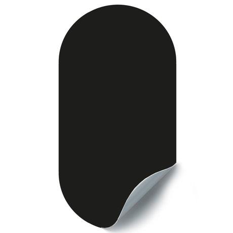 Groovy Magnets Krijtbord Magneetsticker Ovaal Zwart Zelfklevend Vinyl 47x90cm