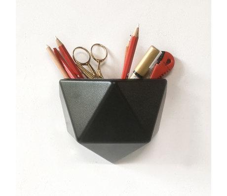 Groovy Magnets Magnetisch Wandbakje Ico Zwart Kunststof 165x85x135cm