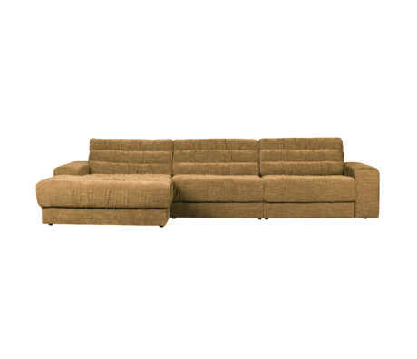 BePureHome Hoekbank Date Vintage Chaise Longue Links Goud Polyester 316x162x78cm