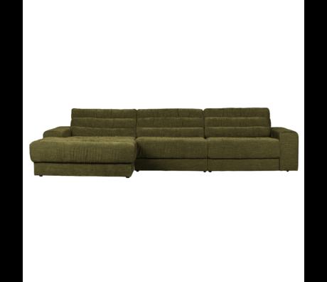 BePureHome Hoekbank Date Vintage Chaise Longue Links Groen Polyester 316x162x78cm