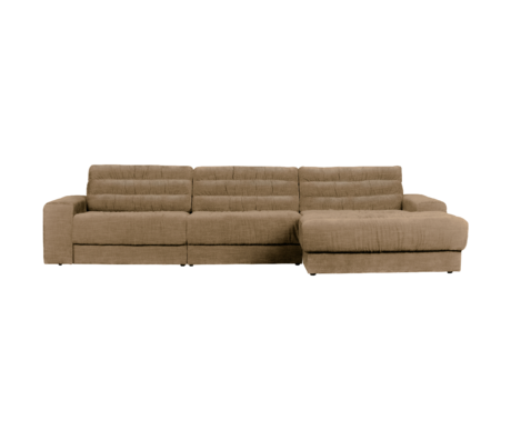 BePureHome Hoekbank Date Vintage Chaise Longue Rechts Licht Bruin Polyester 316x162x78cm