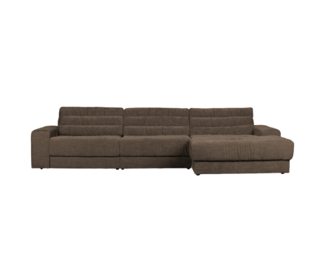 BePureHome Hoekbank Date Vintage Chaise Longue Rechts Bruin Polyester 316x162x78cm