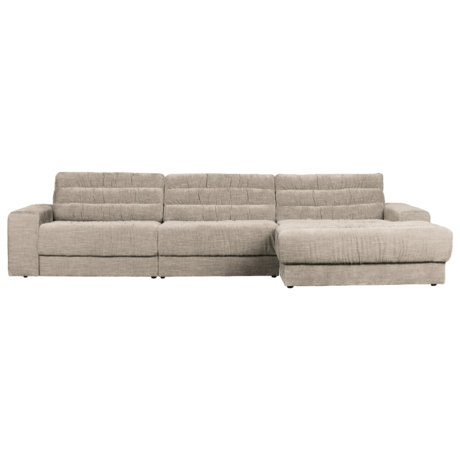 BePureHome Hoekbank Date Vintage Chaise Longue Rechts Creme Polyester 316x162x78cm