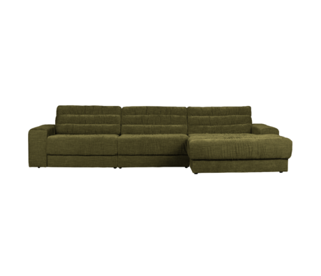 BePureHome Hoekbank Date Vintage Chaise Longue Rechts Groen Polyester 316x162x78cm