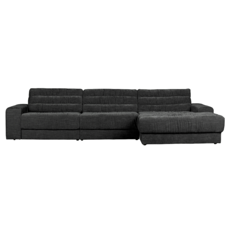 BePureHome Hoekbank Date Vintage Chaise Longue Rechts Antraciet Polyester 316x162x78cm