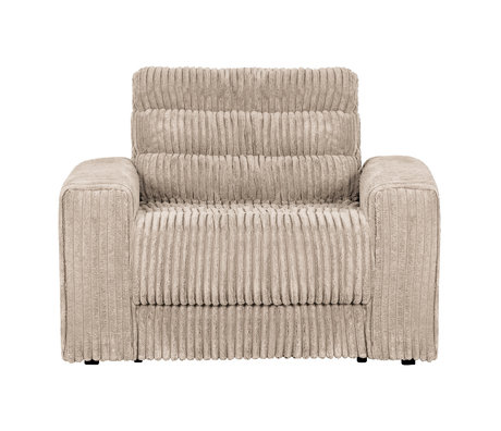 BePureHome Fauteuil Date Rib Creme Polyester 103x99x78cm