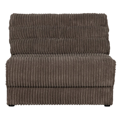 BePureHome Bank Date Rib 1-zits Donker Bruin Polyester 90x99x78cm
