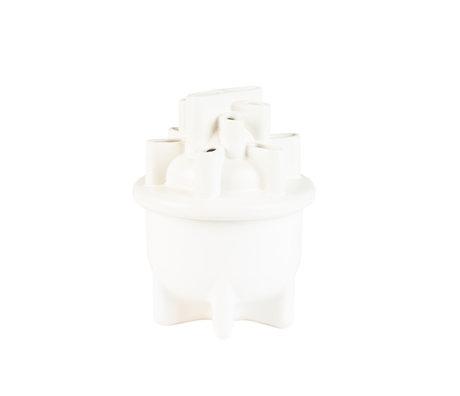 Zuiver Vase Becken kleine weiße Keramik Ø21x28cm