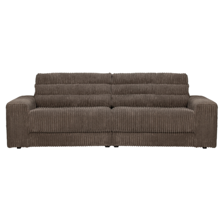 BePureHome Bank Date Rib 2-zits Donker Bruin Polyester 226x99x78cm