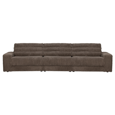 BePureHome Bank Date Rib 3-zits Donker Bruin Polyester 316x99x78cm