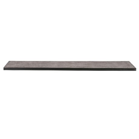 WOOOD Tafelblad Tablo Naturel Teak Hout Metaal 200x90x2,4cm