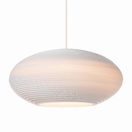 Graypants Hanging lamp Disc 16 Pendant white cardboard Ø43x19cm
