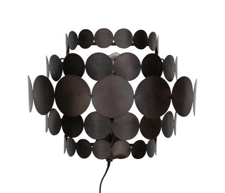 WOOOD Wandlamp Kaki Zwart Metaal 37x18x28cm