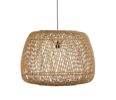 WOOOD Hanglamp Moza Naturel Bamboe Ø70x50cm