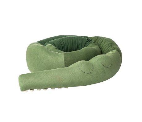 Sebra Kussen Sleepy Croc Groen Katoen 340xØ15cm