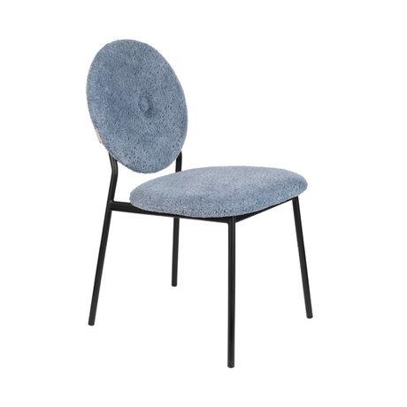 Zuiver Eetkamerstoel Mist grijs blauw textiel 47x59,5x87cm
