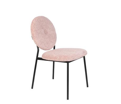 Zuiver Eetkamerstoel Mist roze textiel 47x59,5x87cm