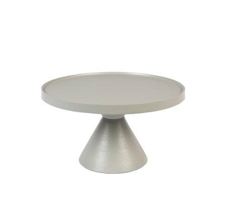 Zuiver Koffietafel Floss grijs aluminium Ø60x33cm