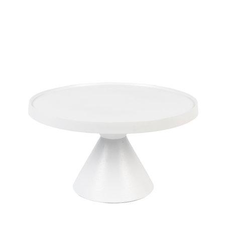 Zuiver Koffietafel Floss wit aluminium Ø60x33cm