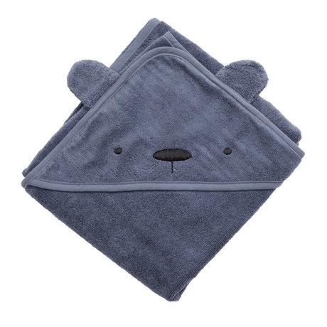 Sebra Badcape Milo The Bear Blauw Katoen 85x85cm
